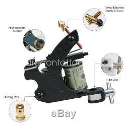Nouveau Tatouage Kit 4 Machine Gun 40 Couleur Encres D'alimentation Aiguilles Grips Conseils Set