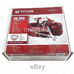 Nouveau Titan Rx-pro Airless Pulvérisateur De Peinture Et Pistolet Kit Tuyau 0538022