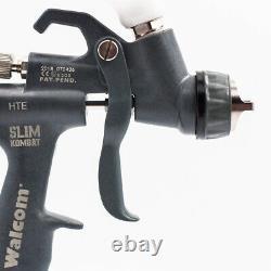 Pistolet Pulvérisateur Walcom Slim Hte Kombat 1,5 Aérographe Walmec Dans Le Kit De Magnésium Et De Kevlar