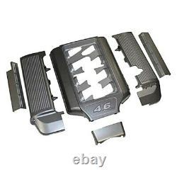 Pour Ford Mustang 05-10 Gun Metal Open Runner Plenum Engine Dress Up Kit