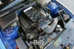 Pour Ford Mustang 05-10 Gun Metal Ouvrir Runner Plénum Dress Up Kit Moteur