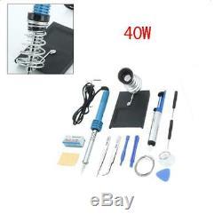 Pratique 14in1 Fer À Souder Électrique Pistolet À Souder Outil De Réparation Kit Set 40w 110v