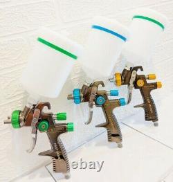 Premium Quality 1.3 1.4 & 1.8mm Lvlp Gravity Feed Spray Gun Kit Livraison Gratuite