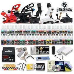 Professionnel Complet Kit De Tatouage 4 Top Gun 54 Rotary Machine D'encre Couleur 50needles