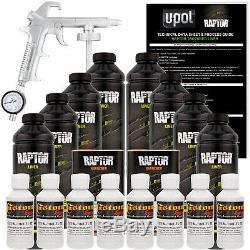 Raptor Gm Blanc Uréthane Spray Sur Camion Doublure De Caisse Pistolet, 8 Litres