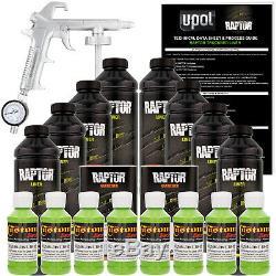 Raptor Lime Green Urethane Spray Sur Camion Doublure De Caisse Pistolet, 8 Litres