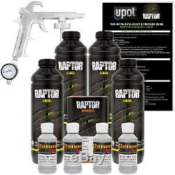 Raptor Mesa Gris Uréthane Spray Sur Camion Doublure De Caisse Pistolet, 4 Litres