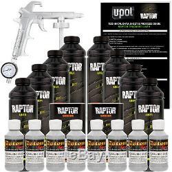 Raptor Mesa Gris Uréthane Spray Sur Camion Doublure De Caisse Pistolet, 8 Litres