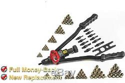 Rivet Gun Kit 115 Pc Set Nut Setter D'outils À Main Métrique Sae Mandrin 16 Fastener