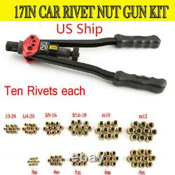 Rivet Nut Gun Kit Rivnut Setting Tools Nut Setter Tool Hand Blind Riveter États-unis
