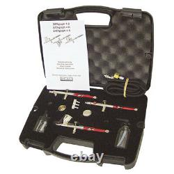 Satagraph 4-3 Auto Airbrush Brushing Paint Gun Kit With Hose & Fittings S004hbs