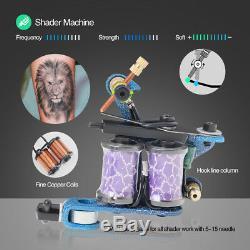 Solong Tattoo Tattoo Kit Complet 4 Machine Gun 54 Encre D'alimentation Set Case Tk456
