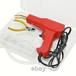 Soudeur En Plastique Hot Stapler Machine Gun Garage Tool Kit Réparation De Voiture En Pvc Bumper Us