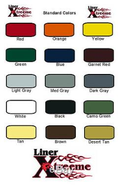 Spray Color Kit De Doublure De Lit, Gun De Trois Gal