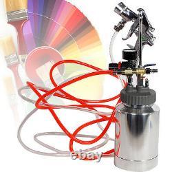 Spray Gun Kit 2 Quart Paint Pressure Pot Complete Kit Spray Gun Pot & Hoses All