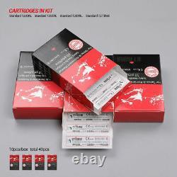 Stigma Sans Fil Stylo De Tatouage Kit Portable Mitrailleuse 40 Aiguilles Batterie Rca Ensemble