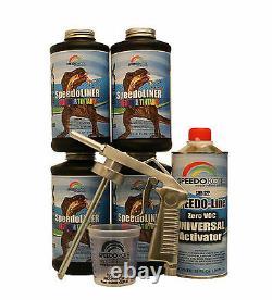 T-rex Tintable Spray-on Truck Bed Liner, Smr-1000t-k4 Bedliner Kit Withfree Gun
