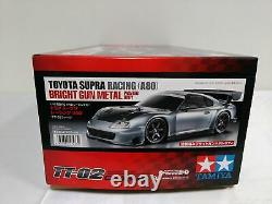 Tamiya 1/10 Rc Toyota Supra Racing A80 Bright Gun Metal Tt-02 Kit Modèle 47433