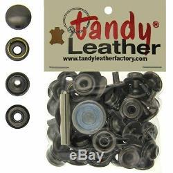 Tandy Leather 5/16 Pouces Ligne 24 Kit De Fixation Snap Ct. 15 Withtools Gun