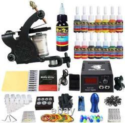 Tatouage Kit De Démarrage Complet Machine Guns 14 Encres Pied Pédales Aiguilles Grips Conseils