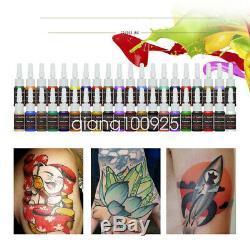 Tattoo Kit 4 Machine Gun 40 D'encre Couleur D'alimentation 50 Aiguilles D176qd-12