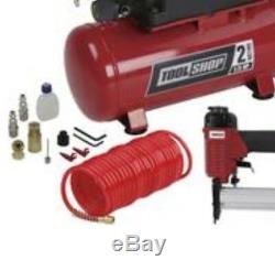 Tool Shop Kit De Compresseur D'air De 2 Gallons Set Pour Tuyau D'agrafeuse Portable