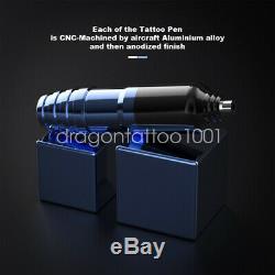 Top Tattoo Kit Dragonhawk Moteur Pen Mitrailleuse Encres Couleur D'alimentation Aiguilles D'alimentation
