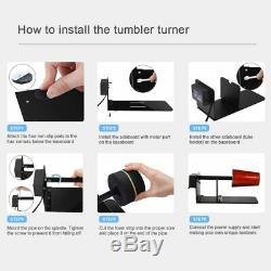 Tumbler Turner Machine Kits Complets Epoxy Glitter Bubble Buster Heat Tool Gun Bricolage