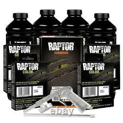 U-pol 821 Raptor 4l Tintable Bed Liner Kit Avec 4854 Pochettes Et Pistolet À Teinte Blanche