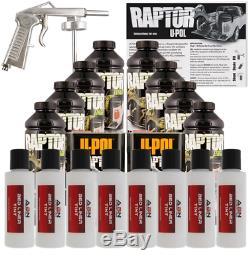 U-pol Raptor Blanc Brillant Uréthane Vaporiser Camion Doublure De Caisse Avec Pistolet, 8 Litres Upol