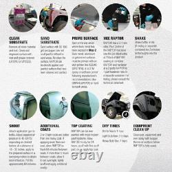 U-pol Raptor Deux (2) Tint Par Pulvérisation Sur Le Camion Kits De Lit + 1 Doublure Pistolet Pulvérisateur