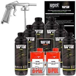 U-pol Raptor Kit De Doublure De Caisse De Camion À Projeter Avec Uréthane Teinté Avec Pistolet À Pulvérisation, 6 Litres