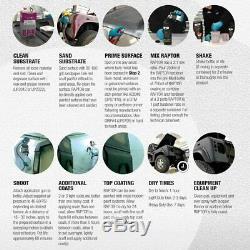 U-pol Raptor Noir Uréthane Spray Sur Camion Doublure De Caisse Kit Avec Free Pistolet, 8l