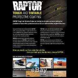 U-pol Raptor Noir Uréthane Spray Sur Camion Doublure De Caisse Pistolet, 8 Litres