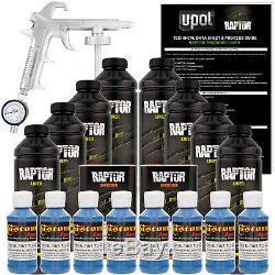 U-pol Raptor Pistolet Pulvérisateur À Revêtement De Caisse De Camion, Bleu Reflex, Teintable, 8 Litres