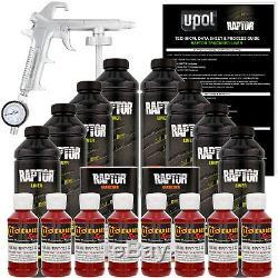 U-pol Raptor Teinter Sang Spray Sur Le Camion Rouge Doublure De Caisse Pistolet, 8 Litres