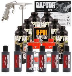 U-pol Raptor Tintable Charcoal Kit De Lit Métallique Avec Pistolet Spray, 6 Litres Upol