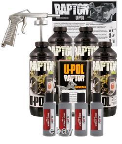 U-pol Raptor Tintable Mesa Gray Bed Liner Kit With Spray Gun, 4l Upol