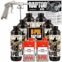 U-pol Raptor Truck Noir Doublure Kit Avec Free Pistolet, 6l Upol