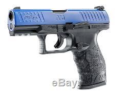 Umarex Walther Ppq M2 T4e Paintball Gun Pistolet Bleu / Noir Nouveau 2292104 Kit Withball
