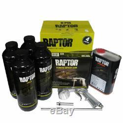 Upo 820v, Pulvérisation Noire Sur Raptor Lit Kit Liner Avec Free Pistolet