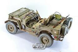 Us Army Jeep Willys 1/4 Ton 4x4 Truck Ww2 /w Guns Sets 16 Pro Built Model