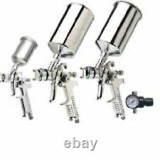 Vapor Eau À Base De Peinture Hvlp Automotive Gravity Fed Spray Gun Kit Avec Boîtier