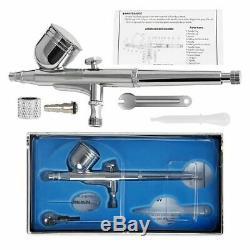 Vivohome Airbrush Compresseur Kit Peinture À Double Action Pistolet Air Brosse Bricolage Craft