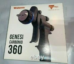 Walcom Carbonio Geo Clear Spray Gun Avec Jauge Numérique, Régulateur, Kit De Réparation, Etc