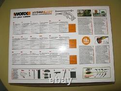 Worx Wg629f. 1 20v 36wh 2ah Sans Fil Hydroshot Kit De Nettoyage De Pression Portable