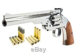 (new) Schofield No. 3 Nickel Double Munitions Co2 Bb Gun Kit, Full Metal Par Barra